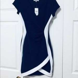 NWT Navy blue and white cocktail dress